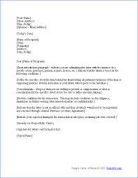 letter of interest format template letter of intent template