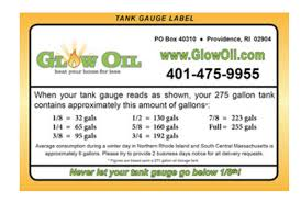 275 Gallon Oil Tank Gauge Chart Does Oil Tank Gauge Read Fraction Of Total Tank Capacity Or