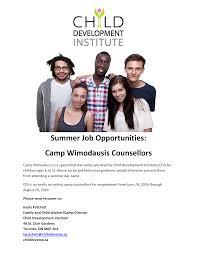 summer job opportunity child development institute ru psych cdi summer job opportunities 2016