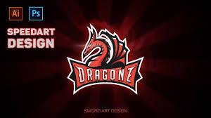 Epic Logo Design 4ulogo Com Illustrator Photoshop Speedart Design Epic Dragon Logo