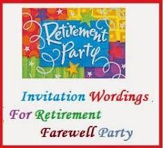 Farewell Invites For Colleagues Sample Invitation Wordings Retirement