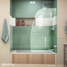 aqua uno hinged tub door
