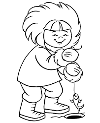 Small Picture Eskimo Girl Ice Fishing Coloring Pages Download Print Online