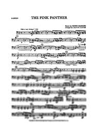 bassoon sheet music the pink panther bassoon henry mancini digital sheet music gustaf