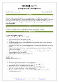 Lift Operator Resume Samples Qwikresume