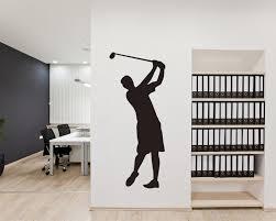 playing golf golf man silhouette modern wall art