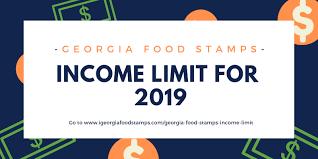 Georgia Food Stamps Income Limit 2019 Georgia Food