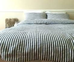gray striped duvet cover grey and white classic ticking stripe inspiration set canada