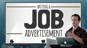 how to write a job advertisement