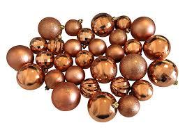 Christbaumkugeln Kupfer 30 Stück Weihnachtskugeln Set