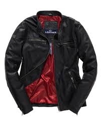 superdry real hero leather jacket