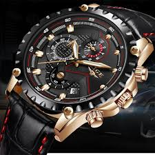 <b>LIGE Mens Watches Top</b> Brand Luxury Quartz Gold Watch Men ...