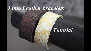 new bracelets: FIMO leather effect polymer clay tutorial браслеты из ...
