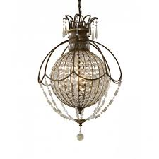 bellini circular globe chandelier bronze with antique crystal