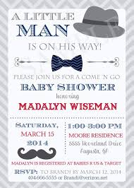 Bow Tie And Mustache Baby Shower