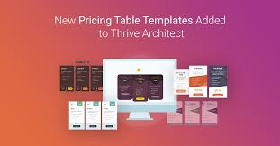 Pricing Table Templates Quick Pricing Table Element Tips New Templates