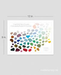 carter sea glass color and rarity guide 12in x 9in