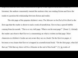 Sample Of Mla Paper Sample Mla Literary Analysis Paper Youtube