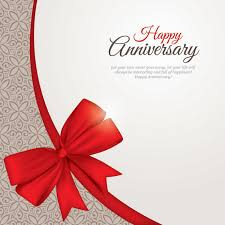 Anniversary Template Beautiful Anniversary Card Template Vector Download