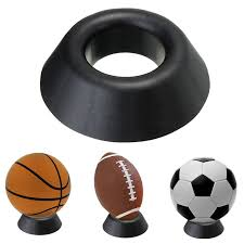 Rugby Ball Display Stand New Plastic Ball Stand Basketball Football Soccer Rugby Plastic Display