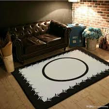 2018 brand new black white camellia rug custom logo soft flannel bedroom living room mat 150x200cm floor carpeting area rugs iranian carpets from