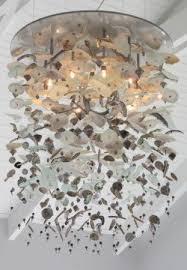 west coast sea glass chandelier