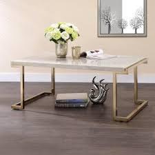 brass coffee table. ACME Boice II Coffee Table Brass