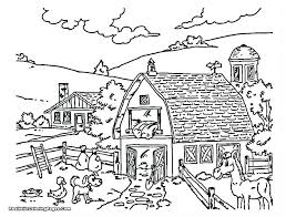 coloring pages free printable barn coloring pages farm animal barnyard pic
