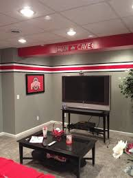 Ohio State Bedroom Decor Ohio State Man Cave Bar Basement Stairs Man Cave Decor
