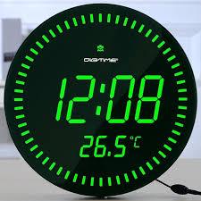 digital wall clock led remote led electronic clock stylish minimalist living room bedroom wall clock mute digital wall clock led