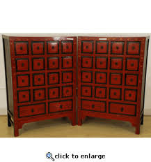 red lacquered furniture. Red Lacquered Chinese Apothecary Cabinets Furniture