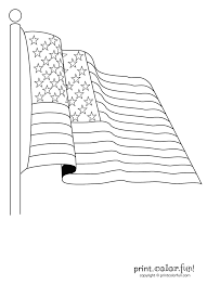 American Flag Coloring Pages Getcoloringpagescom