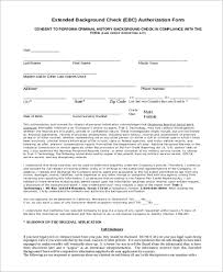 Background Check Authorization Form Custom Sample Background Check Authorization Form 44 Free Documents In