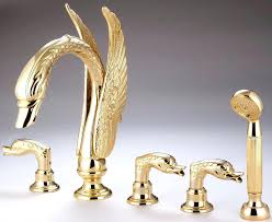 faucet for bathtub free widespread gold finish solid brass waterfall swan tub shower faucet mixer