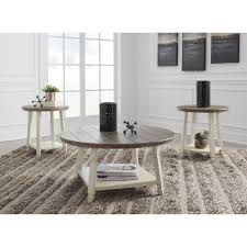 mia indoor 3 piece round coffee table