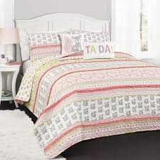 Soft Cotton Quilt Sets for Sale Online | Lush Décor |  ... & Fox Ruffle Stripe Quilt 4 Piece Set Adamdwight.com
