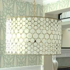 faux capiz shell chandelier shell drum chandelier faux capiz shell chandelier tutorial
