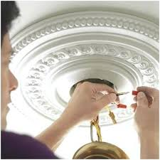 save install ceiling medallion easy way to our dining room installing chandelier