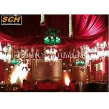 glass and iron traditional event red chandelier light