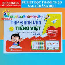 Tập Đánh Vần Tiếng Việt Phiên Bản Mới 124 Trang Cho Bé Từ 4-6 Tuổi Đồ Chơi  Giáo Dục Benrikids
