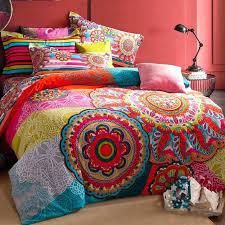 boho comforter sets luxury bedding queen king size bedclothes duvet cover set pillowcase bed cotton in boho comforter
