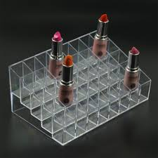 Lipstick Display Stands Slot Clear Acrylic Lipstick Display Holder Stand Cosmetic 84
