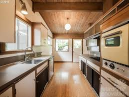 mid century modern galley kitchen. Midcentury Modern Time Capsule House In Portland, Oregon - Retro Renovation Mid Century Galley Kitchen M
