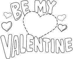 Valentine Coloring Be My Valentine Coloring