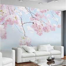 Cherry Blossom Backdrop Custom Photo Wallpaper Cherry Blossom Beautiful Floral Wall Mural Backdrop Living Room 3d Room Landscape Wall Papers Home Decor Canada 2019 From