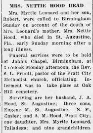 Obituary for NETTIE HOOD - Newspapers.com