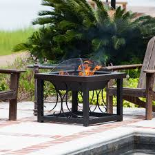 square convertible fire pit table hammertone bronze com