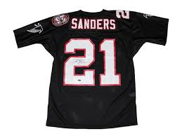 Falcons Sanders Signed Jersey Deion