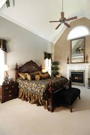 Small Bedroom Ceiling Fan 50 Impressive Master Bedrooms With Fireplaces Photo Gallery