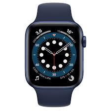 Apple Watch Series 6 GPS, 44 mm Aluminiumgehäuse Blau, Sportarmband  Dunkelmarine - Regular - Apple (DE)
